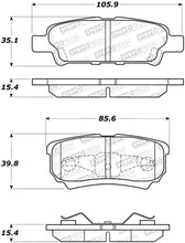 Load image into Gallery viewer, StopTech 07-17 Jeep Patriot Street Performance Rear Brake Pads