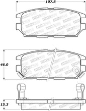 Load image into Gallery viewer, StopTech 91-93 Mitsubishi 3000GT Street Performance Rear Brake Pads