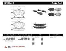 Load image into Gallery viewer, StopTech Performance 03-05 Dodge SRT-4 Front Brake Pads