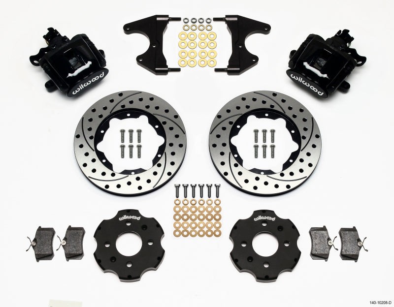 Wilwood Combination Parking Brake Rear Kit 11.00in Drilled Civic / Integra Drum 2.46 Hub Offset