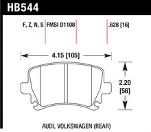 Load image into Gallery viewer, Hawk 06 Audi A6 Quattro Avant / 06-09 A6 Quattro  HP+ Rear Brake Pads
