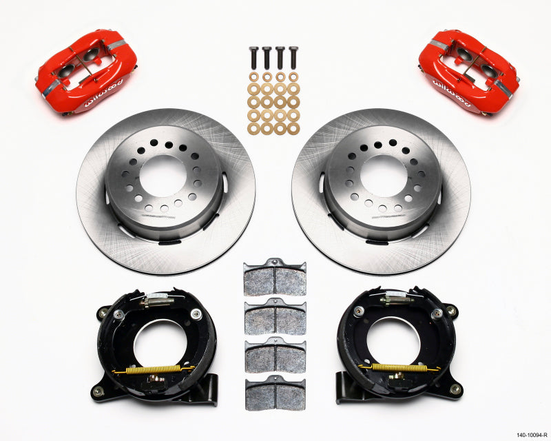 Wilwood Forged Dynalite P/S Park Brake Kit Red Chevy C-10 2.42 Offset 5-lug