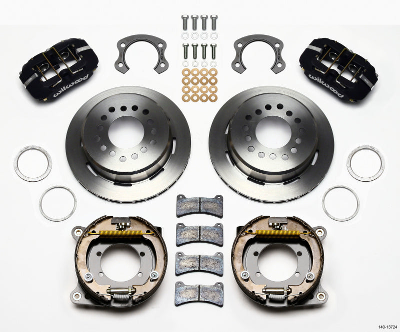 Wilwood Dynapro Low-Profile 11.00in P-Brake Kit Ford 8.8 Special w/2.50in Offset-5 Lug