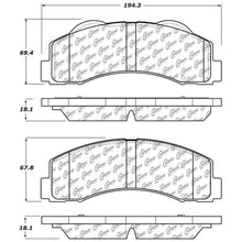 Load image into Gallery viewer, StopTech 10-14 Ford F-150 Street Performance Front Brake Pads