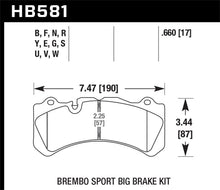 Load image into Gallery viewer, Hawk 09 Nissan GT-R R35 Brembo Blue 9012 Race Front Brake Pads