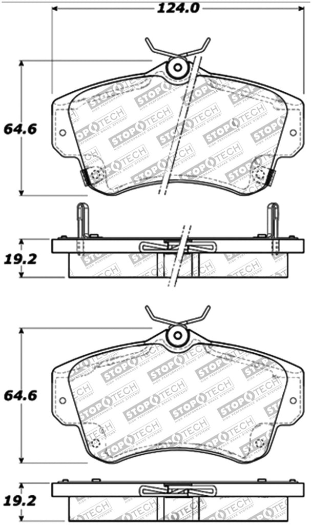 StopTech Performance 03-05 Dodge SRT-4 Front Brake Pads