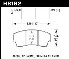 Load image into Gallery viewer, Hawk DTC-80 AP Racing/Alcon 16mm Race Brake Pads