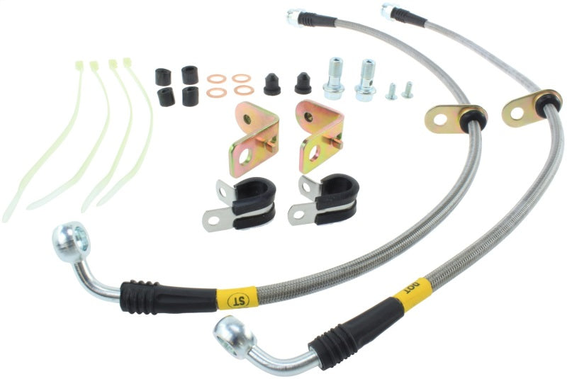 StopTech 11-14 Ford Mustang GT 5.0L V8 Stainless Steel Front Brake Lines