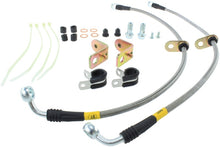 Load image into Gallery viewer, StopTech 11-14 Ford Mustang GT 5.0L V8 Stainless Steel Front Brake Lines
