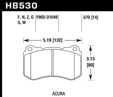 Load image into Gallery viewer, Hawk 07-08 Acura TL Type S Performance Ceramic Street Front Brake Pads