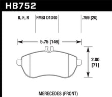 Load image into Gallery viewer, Hawk 2015 Mercedes C250 HPS Street Front Brake Pads