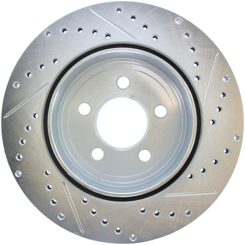 StopTech Select Sport 2011-2012 Dodge Challenger RT Drilled and Slotted Rear Right Brake Rotor