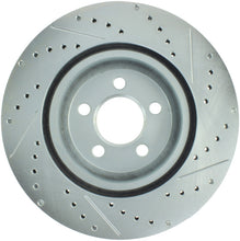Load image into Gallery viewer, StopTech Select Sport 10-14 Dodge Challenger Drilled and Slotted Front Right Brake Rotor