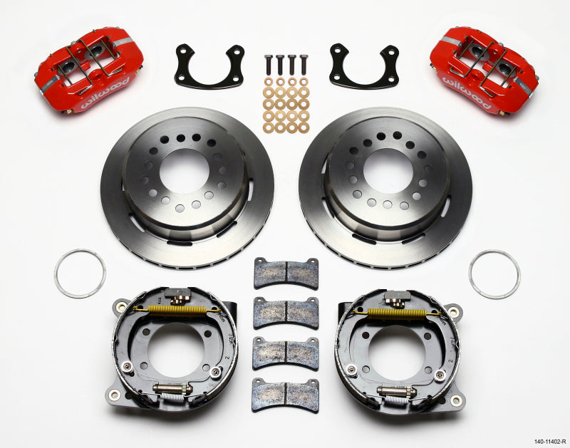 Wilwood Dynapro Low-Profile 11.00in P-Brake Kit - Red New Big Ford 2.36in Offset