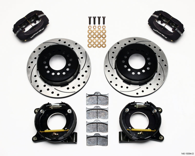Wilwood Forged Dynalite P/S Park Brake Kit Drilled Chevy C-10 2.42 Offset 5-lug