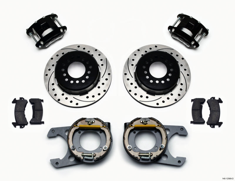 Wilwood D154 P/S Park Brake Kit Drilled Chevy C-10 2.42 Offset 5-lug