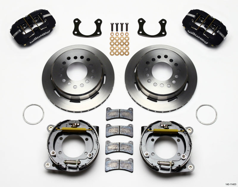 Wilwood Dynapro Low-Profile 11.00in P-Brake Kit Small Ford 2.50in Offset