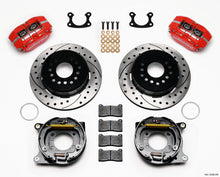 Load image into Gallery viewer, Wilwood Dynapro Dust-Boot P/S Park Brake Kit Drilled Red Small Ford 2.50in Offset
