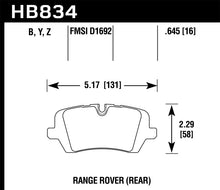 Load image into Gallery viewer, Hawk 13-16 Land Rover Range Rover / 14-16 Land Rover Range Rover Sport LTS Street Rear Brake Pad
