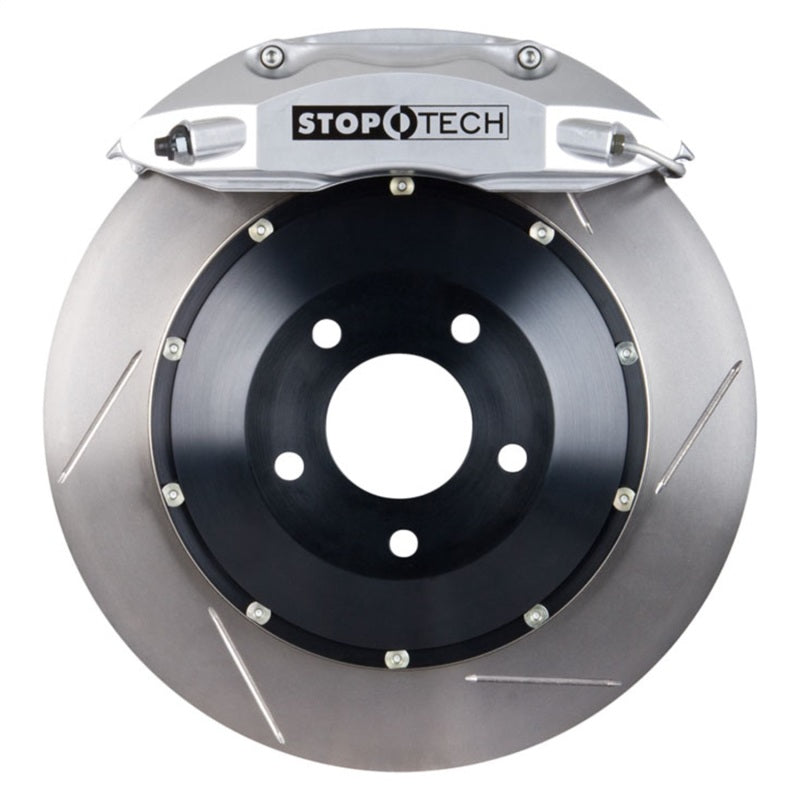 StopTech 06-09 Honda S2000 2.2L ST-40 Silver Calipers 355x32mm Slotted Rotors Front Big Brake Kit
