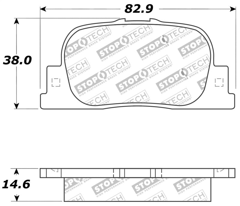 StopTech Performance 05-08 Scion tC Rear Brake Pads