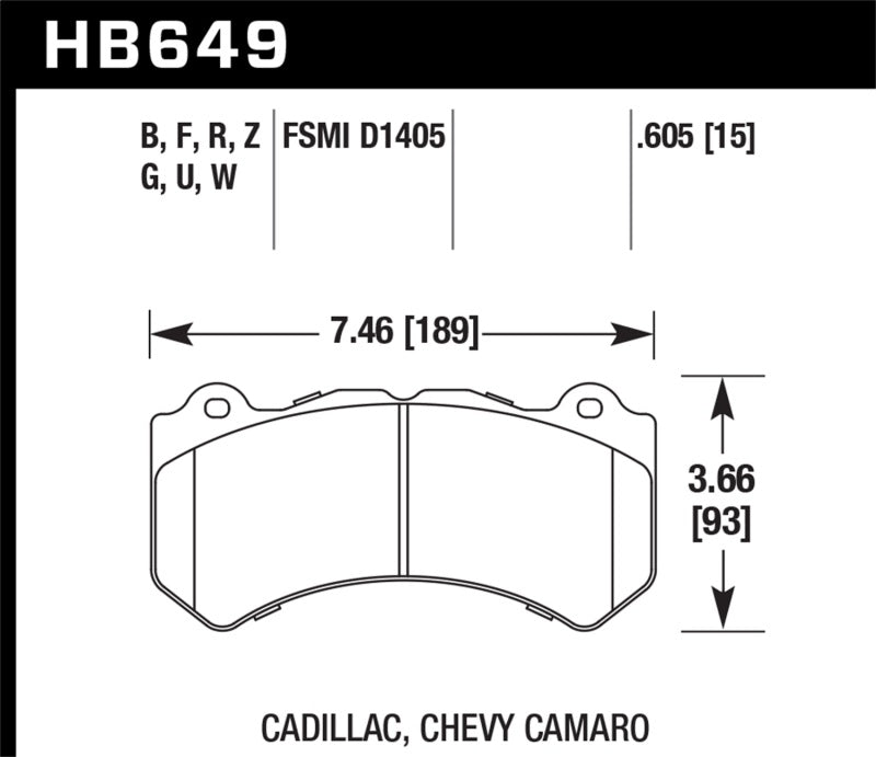 Hawk DTC-80 09-15 Cadillac CTS-V Front Race Brake Pads