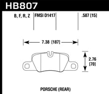 Load image into Gallery viewer, Hawk 2014 Porsche 911 HPS 5.0 Rear Brake Pads