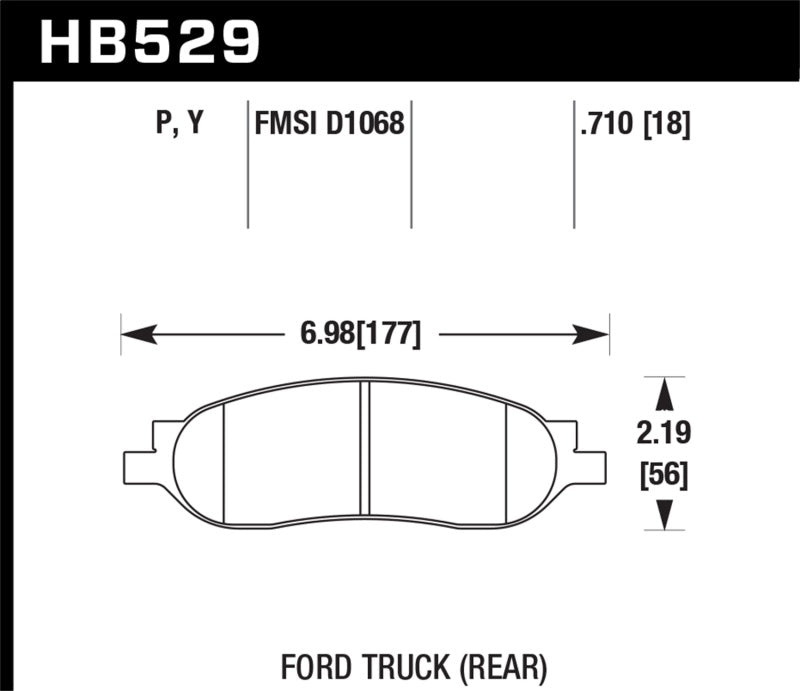 Hawk 05-07 Ford F-250/F-350 SuperDuty Street Rear Brake Pads