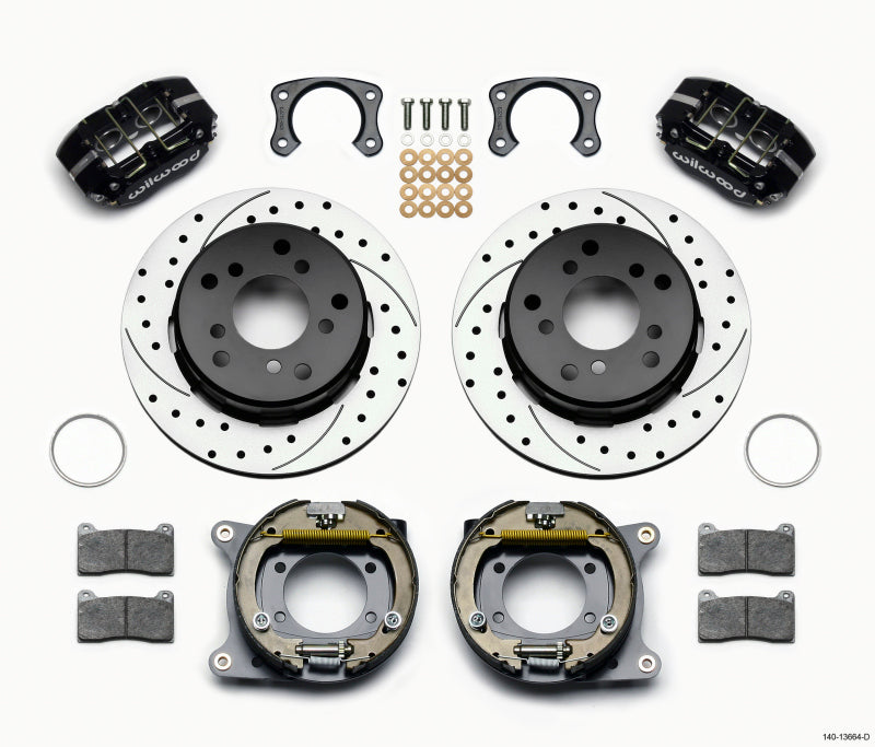Wilwood Dynapro Lug Mount P/S Park Brake Kit Drilled Big Ford New 2.38in Off Bronco 5 x 5.50