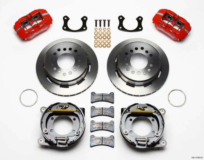 Wilwood Dynapro Low-Profile 11.00in P-Brake Kit - Red Small Ford 2.66in Offset