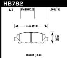 Load image into Gallery viewer, Hawk 08-13 Toyota Highlander High Performance Street 5.0 Rear Brake Pads