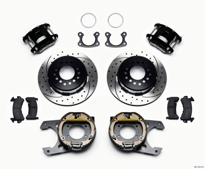 Wilwood D154 P/S Park Brake Kit Drilled Small Ford 2.50in Offset
