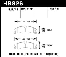 Load image into Gallery viewer, Hawk 13-16 Ford Taurus SHO / 13-16 Lincoln MKS Performance Ceramic Street Front Brake Pads