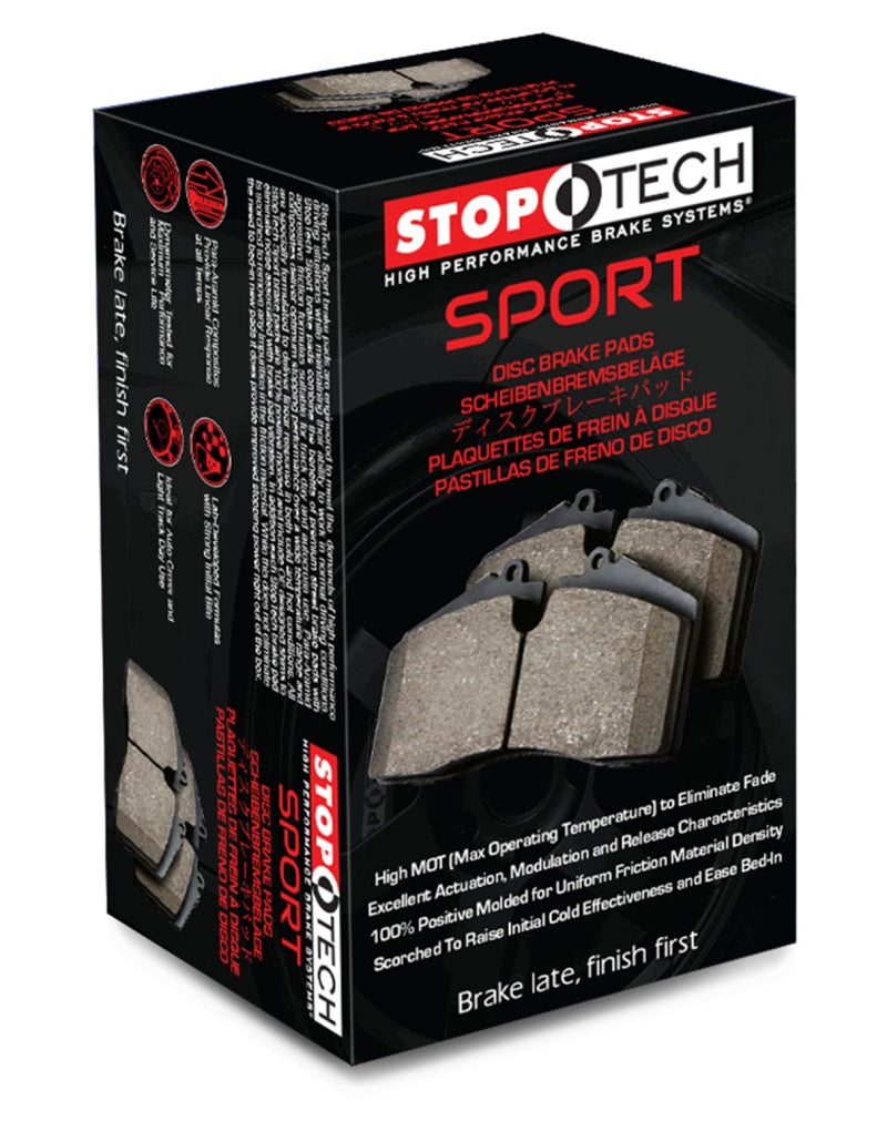 StopTech Sport Brake Pads w/Shims - Rear