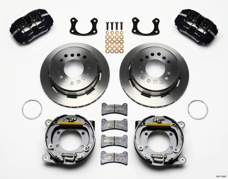 Wilwood Dynapro Low-Profile 11.00in P-Brake Kit New Big Ford 2.50in Off Front Mount