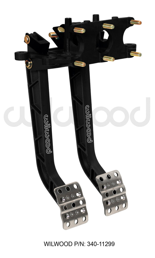 Wilwood Adjustable Dual Pedal - Brake / Clutch - Rev. Swing Mount - 6.25:1