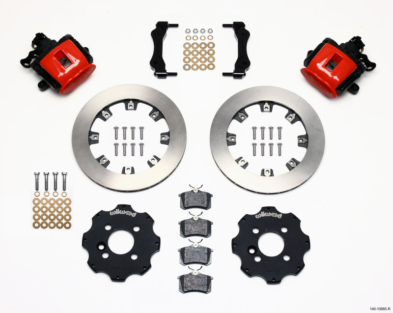 Wilwood Combination Parking Brake Rear Kit 11.75in Red Mini Cooper