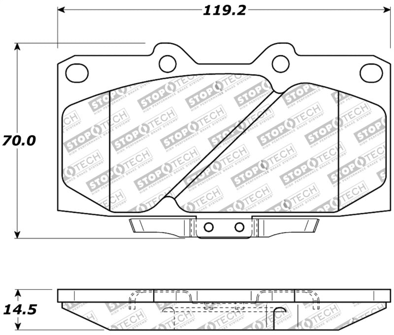 StopTech 89-96 Nissan 300ZX Sport Performance Front Brake Pads