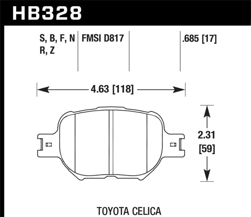 Hawk 01-05 Toyota Celica GTS / 06-10 Scion TC HT-10 Race Front Brake Pads