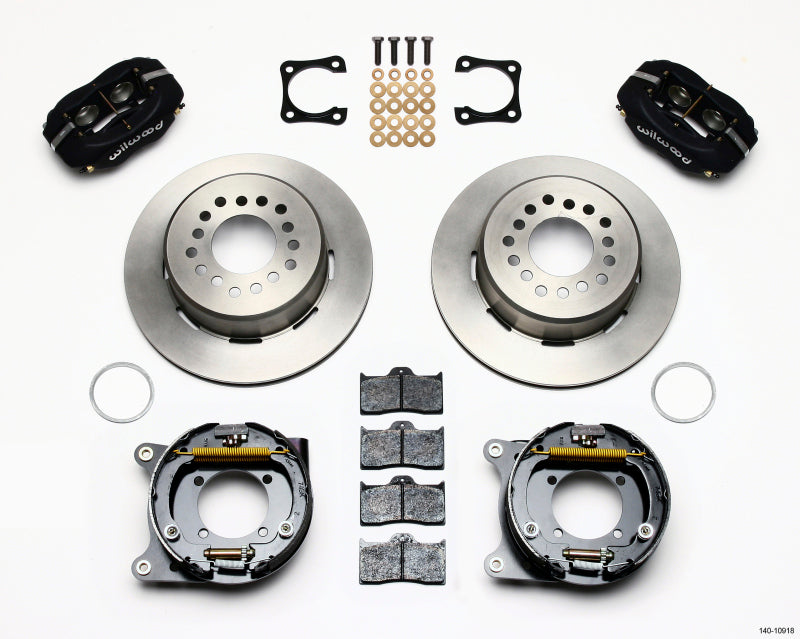 Wilwood Forged Dynalite P/S Park Brake Kit Chevy 12 Bolt-Spec 3.15in Brng Stggrd mt