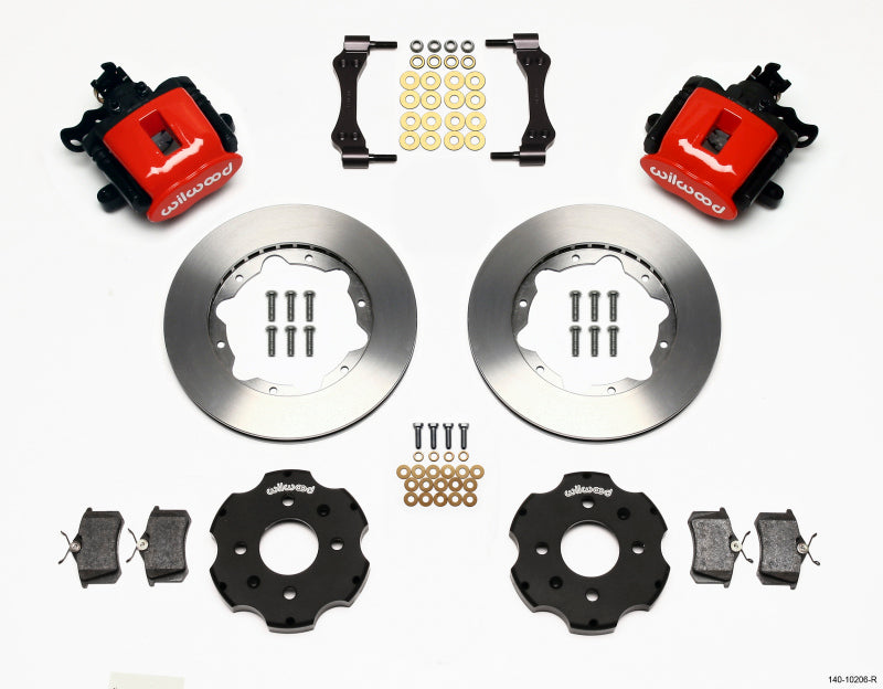 Wilwood Combination Parking Brake Rear Kit 11.00in Red Civic / Integra Disc 2.39 Hub Offset