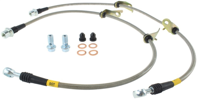 StopTech 11-17 Lexus CT200h Stainless Steel Front Brake Lines