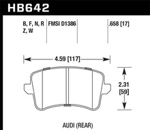 Load image into Gallery viewer, Hawk 2009-2016 Audi A4 HP+ Street Rear Brake Pads