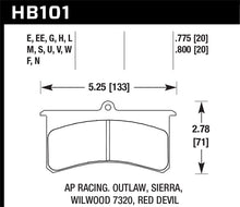 Load image into Gallery viewer, Hawk DTC-80 Wilwood SL/AP Racing/Outlaw 20mm Race Brake Pads