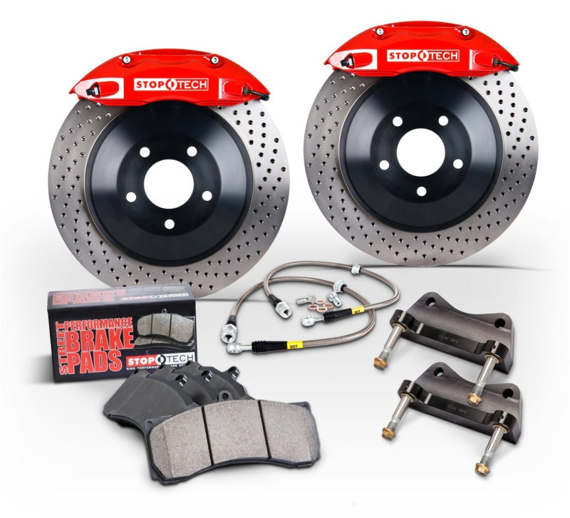 StopTech 2015 Ford Mustang GT Front Big Brake Kit Silver ST-60 Calipers 380x34mm Slotted 1pc Rotors