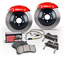Load image into Gallery viewer, StopTech 2015 Ford Mustang GT Front Big Brake Kit Silver ST-60 Calipers 380x34mm Slotted 1pc Rotors