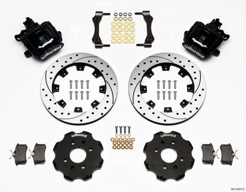Wilwood Combination Parking Brake Rear Kit 12.19in Drilled Civic / Integra Disc 2.39 Hub Offset