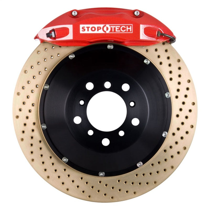 StopTech 00-03 BMW M5 w/ Red ST-40 Calipers 355x32mm Drilled Rotors Front Big Brake Kit