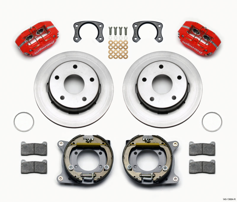 Wilwood Dynapro Lug Mount P/S Park Brake Kit Red Big Ford New 2.38in Off Bronco 5 x 5.50