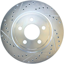 Load image into Gallery viewer, StopTech Select Sport 2011-2012 Dodge Challenger RT Drilled and Slotted Rear Right Brake Rotor